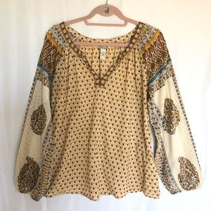 Lucky Brand | Boho Style Pullover Blouse